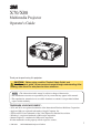 3M Multimedia Projector X70
