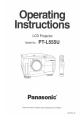 Panasonic PTL555U - LCD PROJECTOR