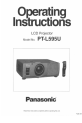 Panasonic PTL595U - LCD PROJECTOR