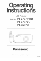 Panasonic PTL797PWUL - LCD PROJECTOR