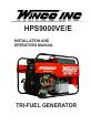 Winco HPS9000VE
